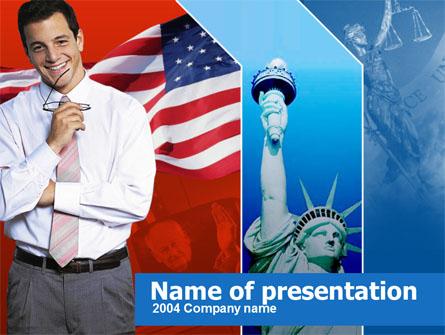 Legislation of America Presentation Template, Master Slide