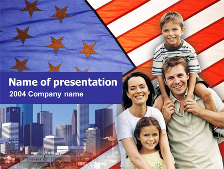 American Flag Day Presentation Template, Master Slide