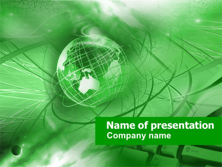 Globe in Communications Net Presentation Template, Master Slide
