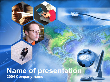 Telecommunication Net Presentation Template, Master Slide