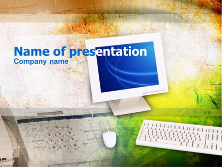 Office Working Place Presentation Template, Master Slide