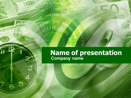 Time Management In Green Presentation Template, Master Slide