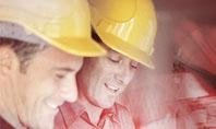 Builders' Meeting In Crimson Colors Presentation Template