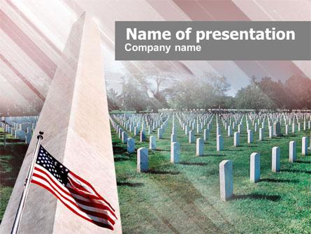 Military Cemetery Presentation Template, Master Slide