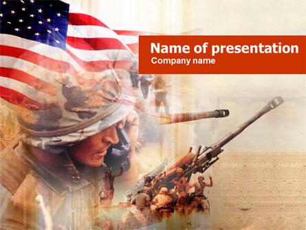 American Artillery Presentation Template, Master Slide