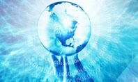 Crystal Globe In Hand Presentation Template