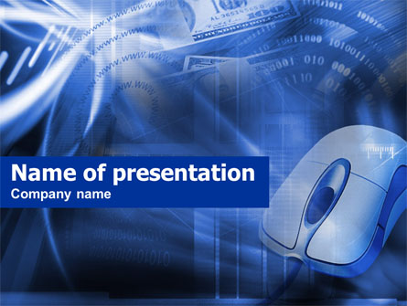 E-Commerce In Blue Colors Presentation Template, Master Slide
