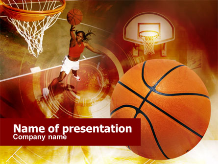 WomenS Basketball Presentation Template For Powerpoint And Keynote