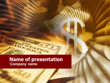 Dollar Investment Presentation Template, Master Slide