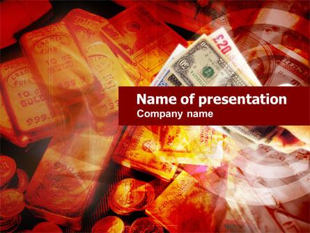 Gold Investment Presentation Template, Master Slide