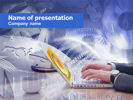 Working In The Net Presentation Template, Master Slide