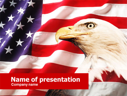 American Bald Eagle Presentation Template, Master Slide