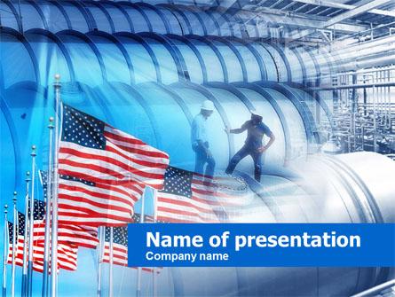 US Oil Reserves Presentation Template, Master Slide