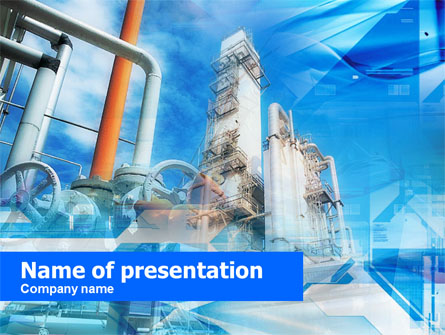 Oil refinery presentation template for powerpoint and keynote ppt star oil refinery presentation template master slide toneelgroepblik Images