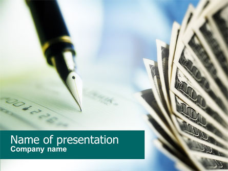 Signing of Check Presentation Template, Master Slide