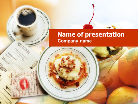 Sweet Shop Presentation Template, Master Slide