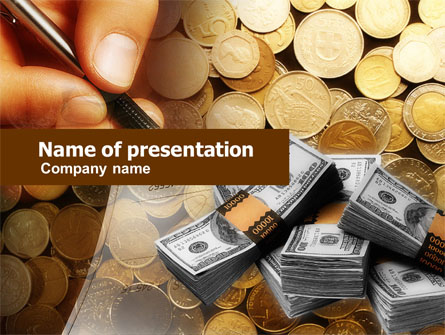 Financial Accountancy Presentation Template, Master Slide