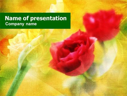 Red Roses Presentation Template, Master Slide