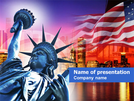 liberty enlightening the world presentation template for powerpoint
