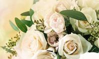 Tea Roses Wedding Bouquet Presentation Template