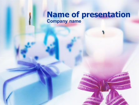 Christmas Candles Presentation Template, Master Slide