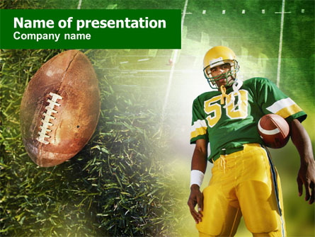 American Football Player Presentation Template, Master Slide