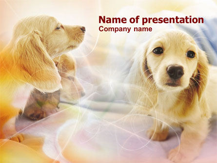 Puppies Presentation Template For Powerpoint And Keynote Ppt Star