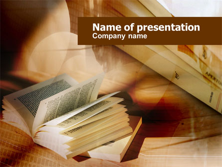 Open Book Presentation Template, Master Slide