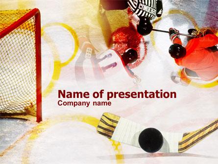 Hockey puck presentation template for powerpoint and keynote ppt star hockey puck presentation template master slide toneelgroepblik Choice Image