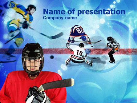 Hockey game presentation template for powerpoint and keynote ppt star hockey game presentation template master slide toneelgroepblik Choice Image