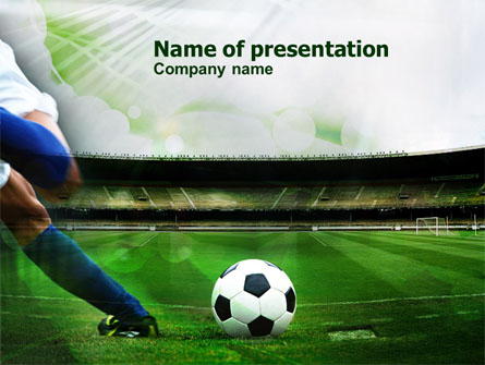 A kick in soccer presentation template for powerpoint and keynote a kick in soccer presentation template master slide toneelgroepblik Gallery