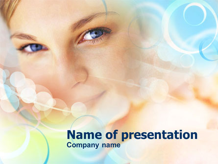 Women's Beauty Presentation Template, Master Slide