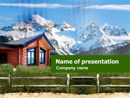 Mountain Cottage Presentation Template, Master Slide