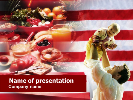 American food presentation template for powerpoint and for American cuisine presentation