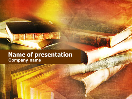 Ancient Books Presentation Template For Powerpoint And Keynote Ppt