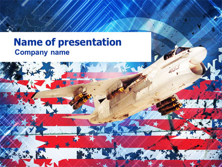 US Ling-Temco-Vought A-7 Corsair I Free Presentation Template, Master Slide