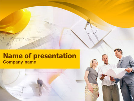 Building Project Discussion Presentation Template, Master Slide