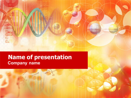 molecular science presentation template for powerpoint and keynote, Presentation templates