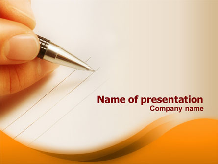 Writing Pen Presentation Template For Powerpoint And Keynote Ppt Star