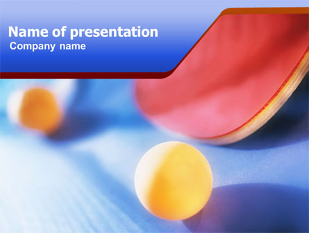 Ping pong presentation template for powerpoint and keynote for Table tennis tournament template