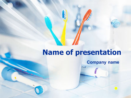 Toothbrushes in the Glass Presentation Template, Master Slide