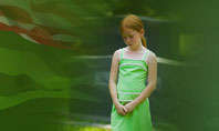 Little Girl In Memorial Day Free Presentation Template