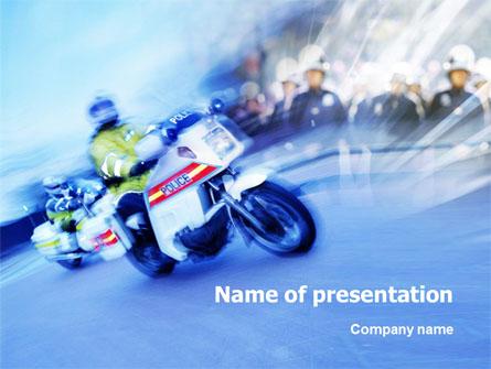 Road Police Presentation Template, Master Slide