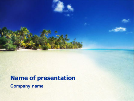tropical beach presentation template for powerpoint and keynote, Modern powerpoint