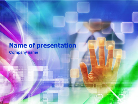 Animated Hand Presentation Template, Master Slide