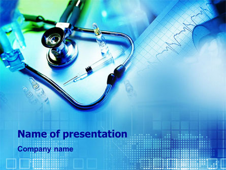 Phonendoscope and Medication Presentation Template, Master Slide