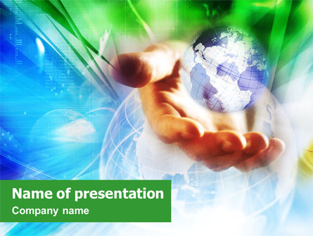 World in the Hand Presentation Template, Master Slide