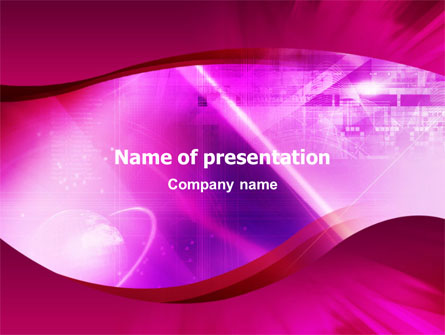 Crimson Waves Presentation Template, Master Slide
