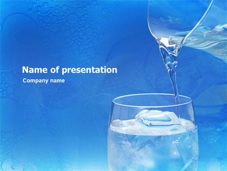 Glass of water and ice presentation template for powerpoint and glass of water and ice presentation template master slide toneelgroepblik Gallery