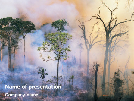 forest fire presentation template for powerpoint and keynote ppt star